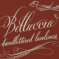 Belluccia font, calligraphy font, cursive font, hand lettered font, fancy font, script font, wedding font