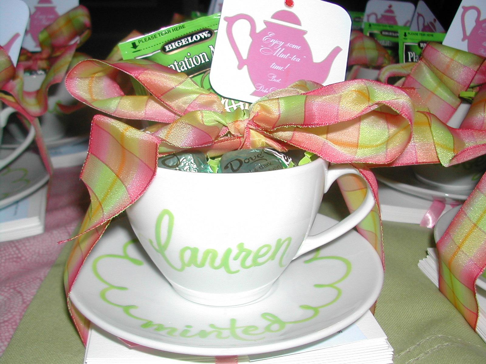 Personalized Tea Cup Favors Debi Sementelli