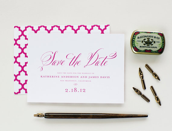 Matching Save The Date And Wedding Invitations: Wedding Invitation And Save The Date By Lauren Chism Fine