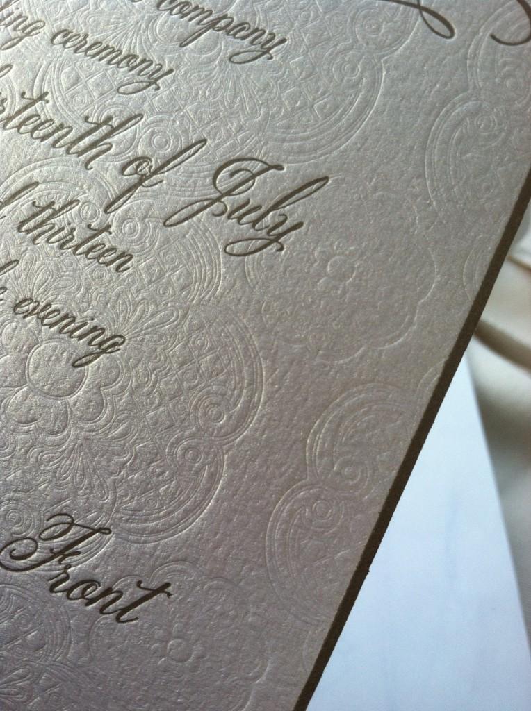 imaj design,wedding invitation, Jami Dixon, Bellucia font, calligraphy font. beveled edge design. lettering art studio, Debi Sementelli