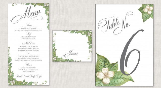 Ivory Buds Wedding Invitation, Botanical Wedding Invitation, Dom Loves Mary Calligraphy font, Cursive fonts, Script fonts, Calligraphy fonts, Top Selling fonts, Best selling fonts, Most popular fonts,  Wedding fonts, fonts for weddings, fonts for invitations, Debi Sementelli, Lettering Art Studio, Pretty as a Picture invitations, Menu, Place cards, Table Numbers