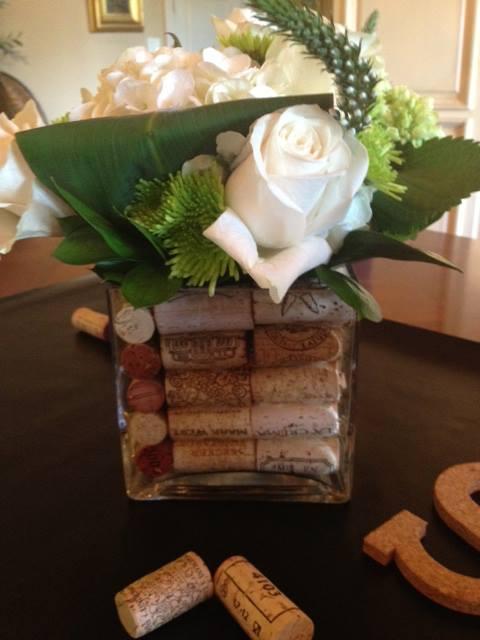 bridal shower,  wine cork display, wine themed bridal shower, hand lettering, Lettering Art Studio, Debi Sementelli