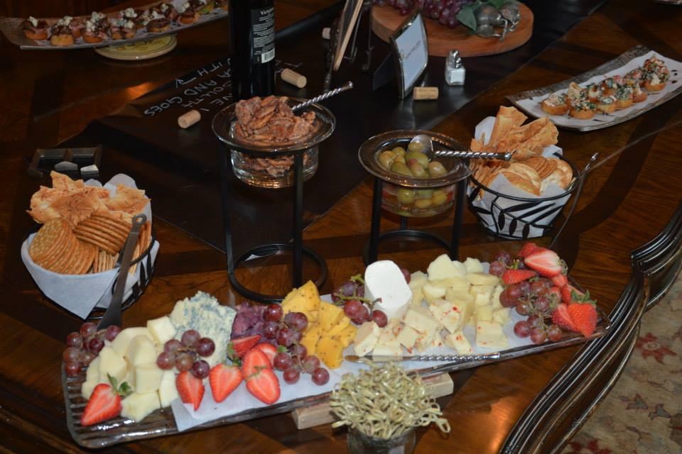 bridal shower,  chalkboard signs, wine themed bridal shower, food and wine display, hand lettering, Lettering Art Studio, Debi Sementelli