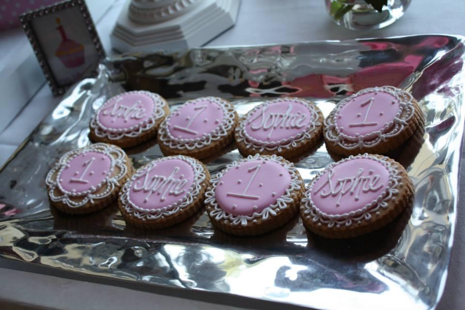 Debi Sementelli, Lettering Art Studio. cookies, pink-themed birthday party