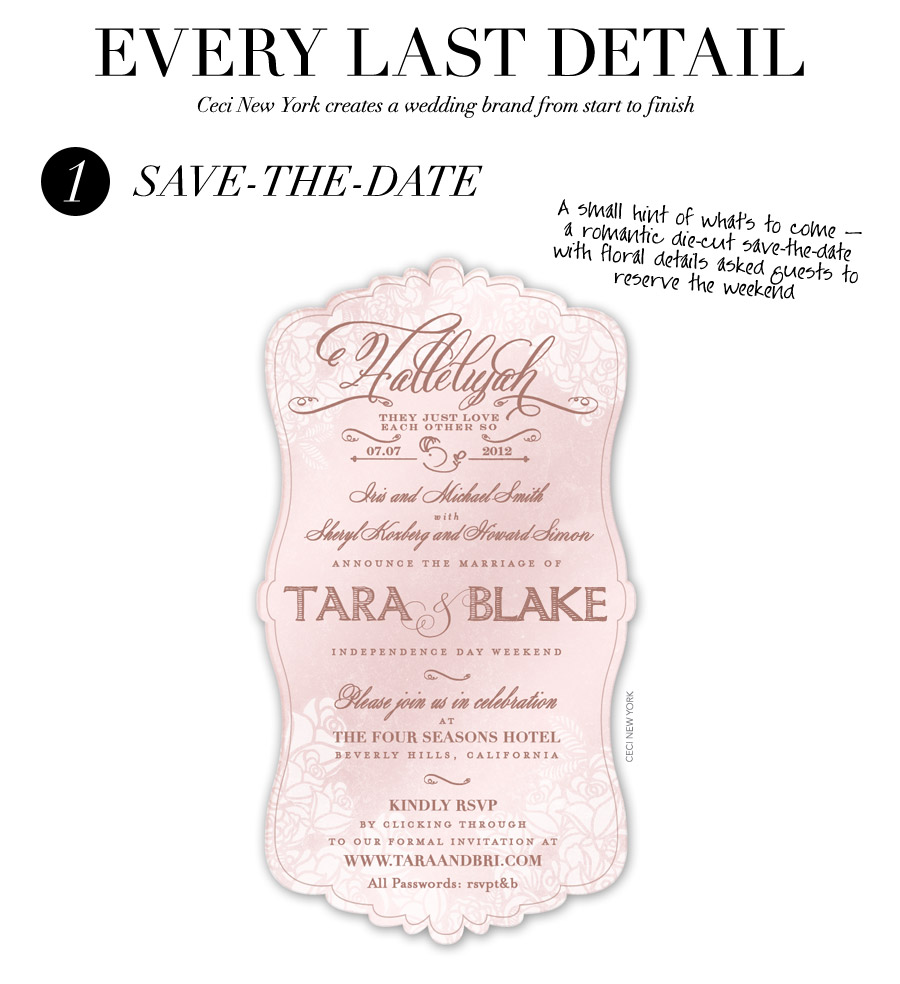 wedding_branding_roses_save_the_date_roses_ceci_johnson_v152_cct,wedding invitation, wedding invitation suite, multiple block fonts combined with script belluccia font, Lettering Art Studio, Debi Sementelli