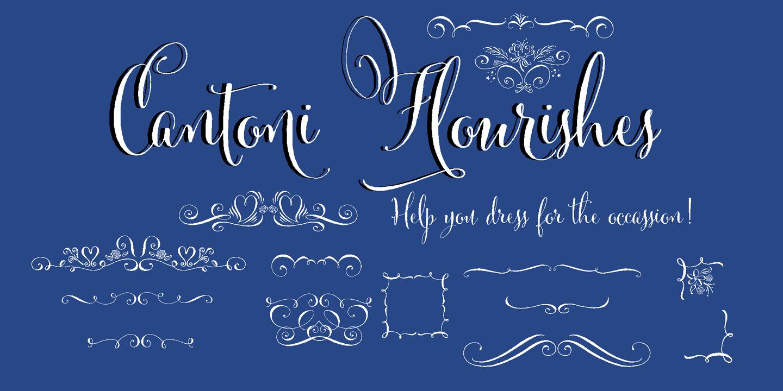 Cantoni Font Flourishes Debi Sementelli