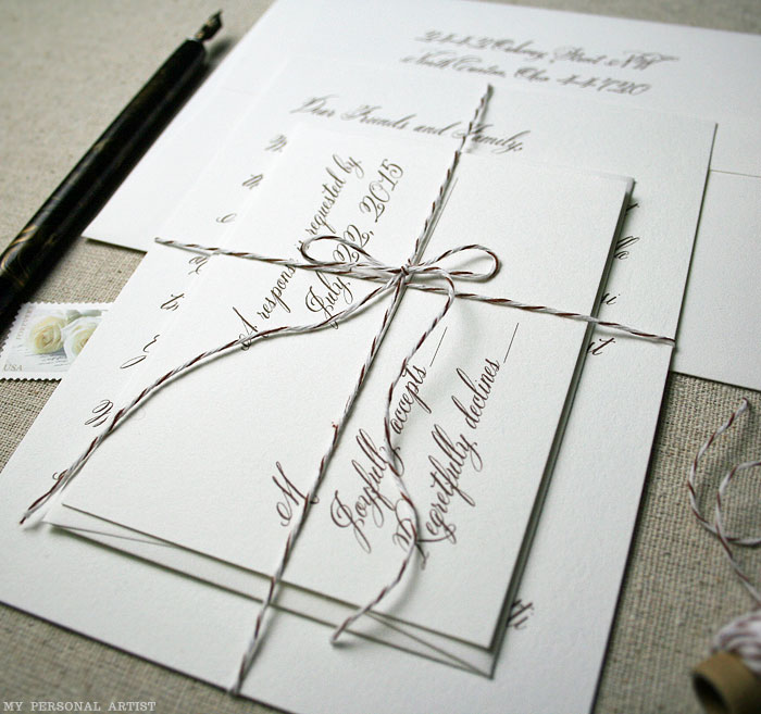 Handwritten inspired wedding invitations archives debi sementelli belluccia calligraphy font on invitation belluccia calligraphy fonts cursive fonts script fonts stopboris Image collections