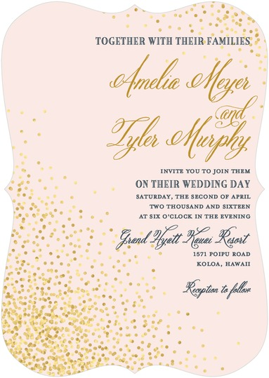 Effervescent Sparkle Invitation by Wedding Paper Divas Debi Sementelli