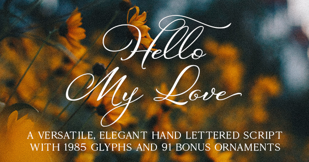 Hello My Love Fonts
